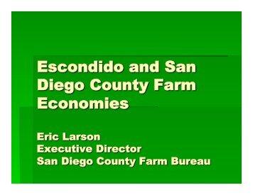 Escondido and San Diego County Farm Economies