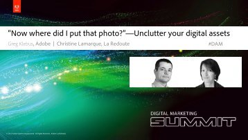 """Now where did I put that photo?""—Unclutter your digital assets"