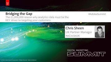 Bridging the Gap Chris Sheen