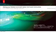 Making your Website Social with Adobe CQ5 Social Communities