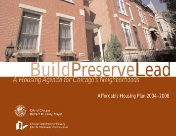 5 Yr. Housing Plan Book - Chicago Rehab Network