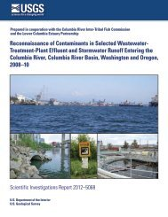 Reconnaissance of Contaminants in Selected Wastewater - USGS
