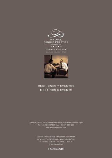 REUNIONES Y EVENTOS MEETINGS & EVENTS - eibtm