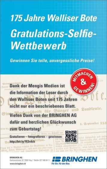 Gratulieren Sie dem Walliser Bote zum 175 Jahr Jubiläum!