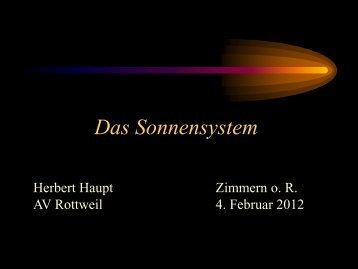 Sonnensystem 04.02.12