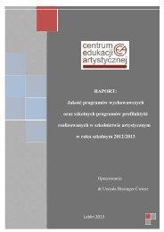 Raport: Jakość programów wychowawczych oraz szkolnych ...