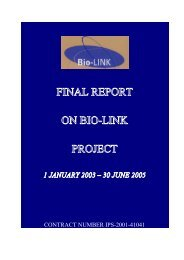 final report on bio-link project - The Jerusalem Institute for Israel ...