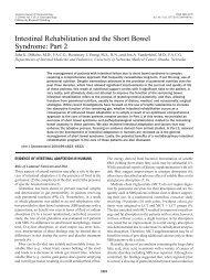 Intestinal Rehabilitation and the Short Bowel Syndrome: Part 2
