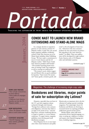 Bookstores and libraries, major points of sale for ... - Portada