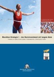 Marathon-Strategie I – das Basisinvestment mit langem Atem
