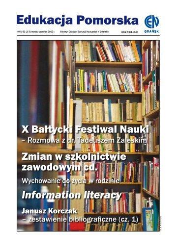 X Bałtycki Festiwal Nauki Information literacy