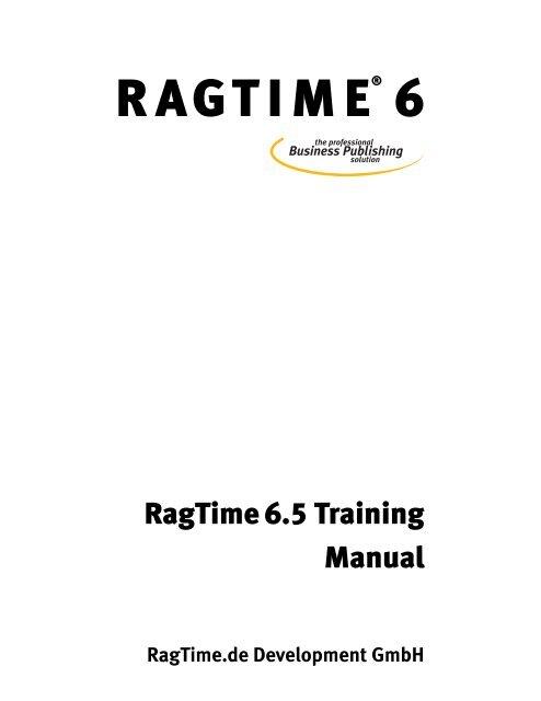 RagTime Training Manual RagTime GmbH