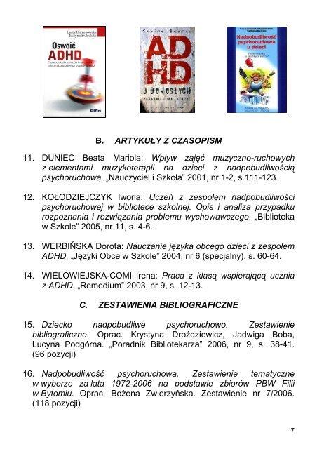 BYTOMSKA BYTOMSKA BIBLIOTEKA PEDAGOGICZNA ...