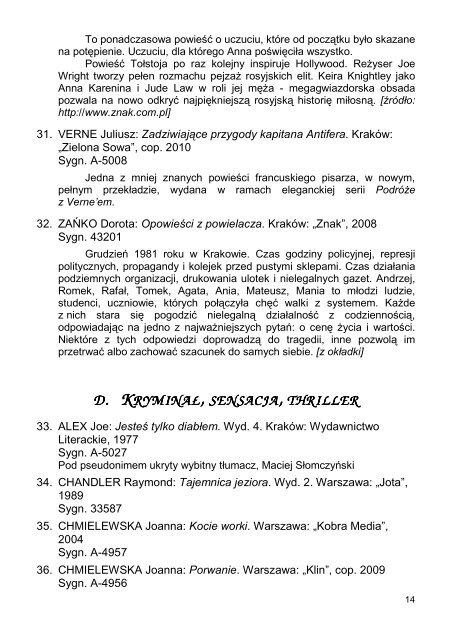 BYTOMSKA BIBLIOTEKA PEDAGOGICZNA BIBLIOTEKA ...