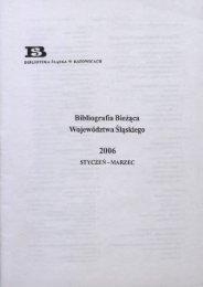 Bibliografia Bieżąca Województwa Śląskiego - Śląska Biblioteka ...