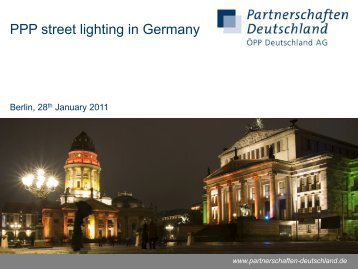 PPP street lighting in Germany