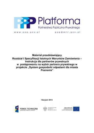 Instrukcja dla partnerów prywatnych w - PPP