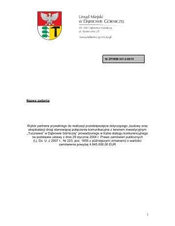 Wniosek o dopuszczenie do udziału w dialogu konkurencyjnym - PPP