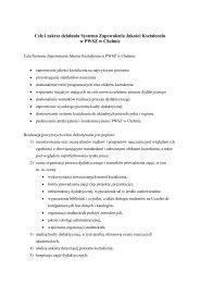 Cele i zakres działania Systemu Zapewnienia Jakości Kształcenia w ...