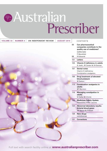 download the full PDF issue - Australian Prescriber