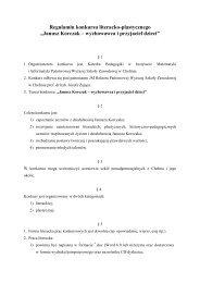 Regulamin konkursu Janusz Korczak - Państwowa Wyższa Szkoła ...