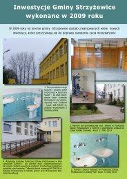 Inwestycje Gminy Strzyżewice wykonane w 2009 roku