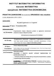 Harmonogram - Państwowa Wyższa Szkoła Zawodowa w Chełmie