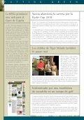 El golpe en pendiente HOYO 19 Putting Green Actividades ... - Page 6