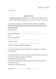 Załącznik nr 2 do SIWZ OŚWIADCZENIE o spełnieniu warunków z ...