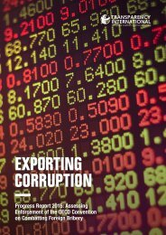 EXPORTING CORRUPTION