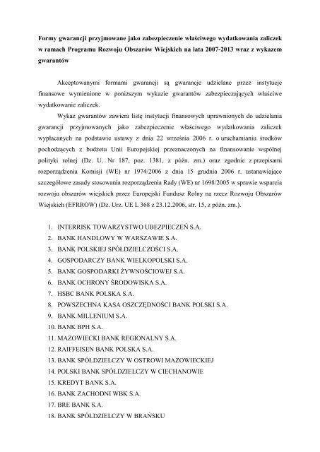 Formy gwarancji.pdf - Partnerstwo Izerskie