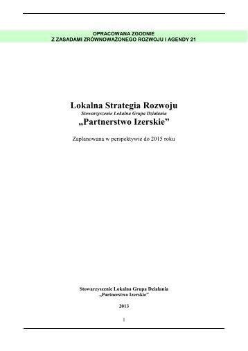"""Lokalna Strategia Rozwoju """"Partnerstwo Izerskie"""""""