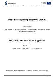 Badanie satysfakcji klientów Urzędu Starostwo Powiatowe w Wągrowcu