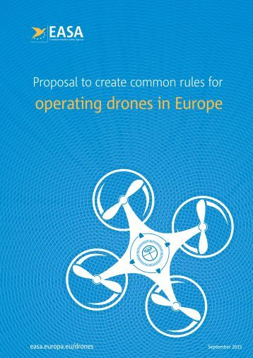 operating drones in Europe