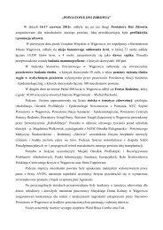 POWIATOWE DNI ZDROWIA - Starostwo Powiatowe