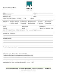 PDF Referral Form using this link - Peak Veterinary Referral Center