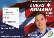 8 Jahre konsequent: Lukas Reimann wieder nach Bern!