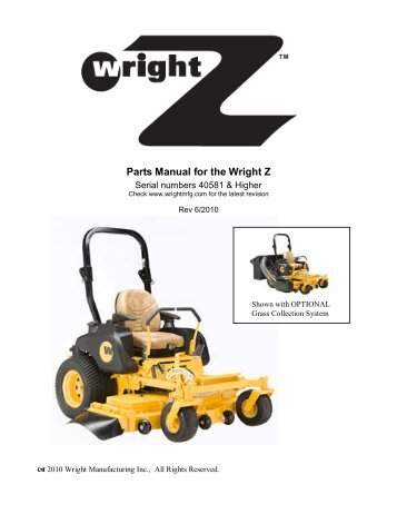 parts list for the wright stander 32 u201d 36 u201d 42 u201d and 48 u201d wss mower rh yumpu com wright stander 52 owner's manual wright stander zk manual