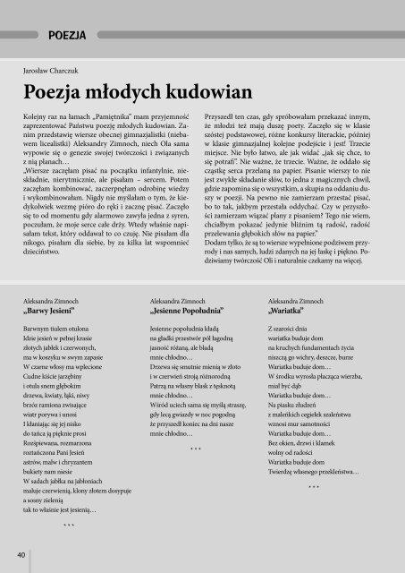 Poezja Jarosław Charczuk