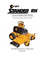 Parts List For The 48 52 61 Wright Stander Mower