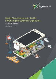 World Class Payments in the UK Enhancing the payments experience
