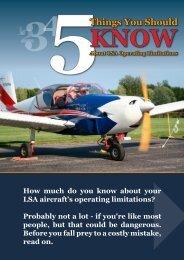 Operating Limitations - Rainbow Aviation