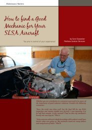How to find a Good Mechanic for Your SLSA Aircraft