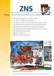 Zahnärztliche Nachrichten Schwaben 4/2012 - Zahnärztlicher ...