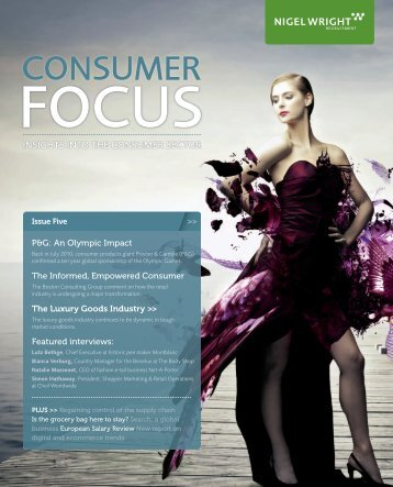 Consumer Focus Magazine Issue 5 - Nigel Wright Recruitment UK ...