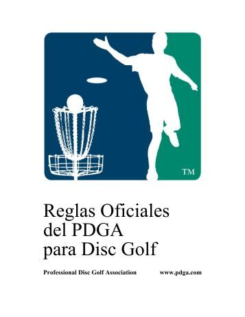 Reglas Oficiales del PDGA para Disc Golf - PDGA Europe