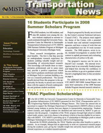 UTC-MiSTI Newsletter - MiSTI - Michigan Technological University