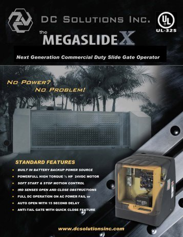 mega slide- commercial duty slide gate operator - Southwest ...