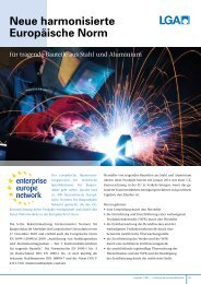 Neue harmonisierte Europäische Norm - LGA