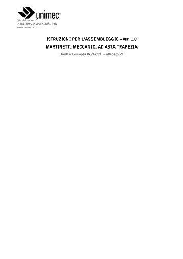 manuale di incorporazione martinetti - Unimec